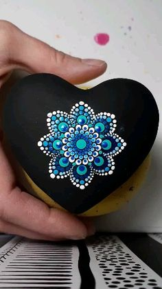 Rock Painting Ideas Discover Bunny Heart All profits donated to the rabbit rescue Rock Painting Patterns, Rock Painting Designs, Rock Painting Ideas Easy, Paint Designs, Stone Art Painting, Dot Art Painting, Mandala Painting, Dot Painting On Rocks, Watercolor Mandala