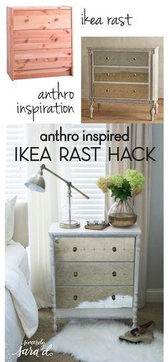 Anthropologie Inspired IKEA Rast Dresser Hack