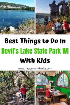 What to do in Devil's Lake State Park Wisconsin. Learn about the best hikes, where to swim, camp, nature center and more. Everything fun to do with kids on your visit. Wisconsin State Parks, Wisconsin Vacation, Wisconsin Dells, Camping Wisconsin, Travel With Kids, Family Travel, Family Vacations, Wilderness Resort, Great Wolf Lodge