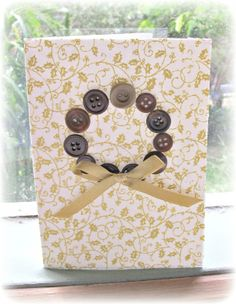 DIY Fabric and Button Christmas Cards