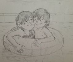 Swimming - DP Tumblr Mabel Pines, Dipper Pines, Mable And Dipper, Pinecest, Gravity Falls Fan Art, Reverse Falls, Duck Tales, Star Vs The Forces Of Evil, Force Of Evil