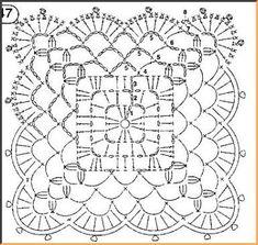 Квадрат крючком - Вязание.Узоры.Схемы