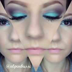 """Turquoise Passion"" Look. The whole used Make up List of this Look you find on my Insta: @alpenbussi See you there ✌️"
