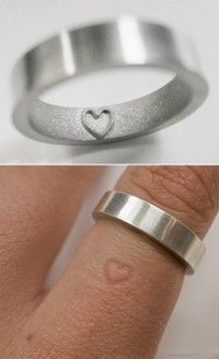 What a great idea. If your rings going to leave a little indent anyway, might as well be a cute one.