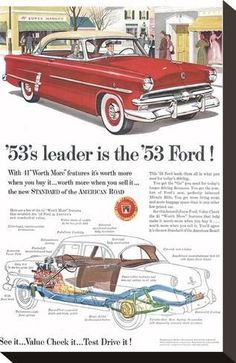 Stretched Canvas Print: Ford 1953 Leader is the Ford : 11x7in