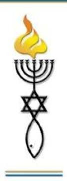 Messianic Symbols with Kabbalah Eternal Flame forming the Masonic Torch.