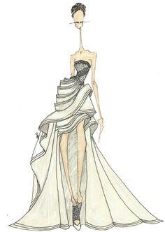 fashionillustr.quenalbertini: Joseph Larkowsky for Atelier Versace Couture, Google Search