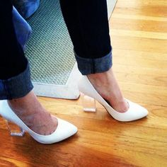 Ashley from The Food Attendant in the White Shoe Cult Minx Pumps (http://www.nastygal.com/shoes/minx-pump-white) #ShoeCult