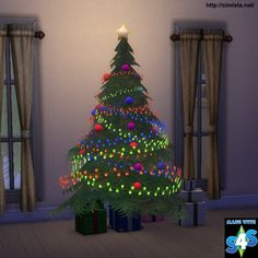 Sims 4 CC's - The Best: Christmas Tree and Lights by Simista
