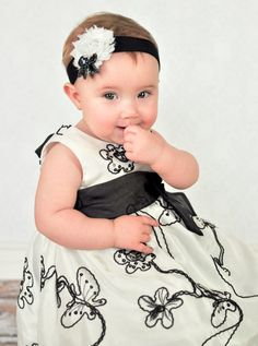 Picture perfect Shabby headband with sequins bow by AMAYABELLA, $6.00