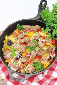 Italian Sausage, Onions and Peppers Skillet Sausage And Peppers, Peppers And Onions, Stuffed Peppers, Little Italy Nyc, Beef Barley Soup, Skillet Dinners, Entrees, Food To Make, Main Dishes