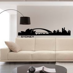 Wall Decals Vinyl Stickers Sydney City Skyline by FabWallDecals