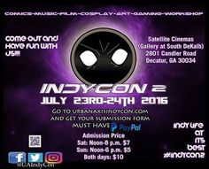 """""""Urban Axis Indycon Nation""""  Urban Axis IndyCon is an event formed by the minds of Urbangod Ink and Infinite Axis Comix. The second event will be held July 23-24 2016.  2016.  http://blacksciencefictionsociety.com/events/urban-axis-indycon-nation"""