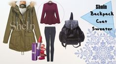 JulieMcQueen: CLOTHING COLD WEATHER OUTFIT #fashion #outfit #ootd #cute #weather #cold #sheinside #clothing #backpack #coat #snow #beauty #sexy #grey