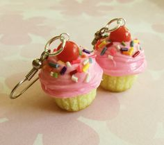 Hey, I found this really awesome Etsy listing at https://www.etsy.com/listing/115147803/strawberry-rainbow-cupcake-earrings