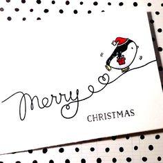 Christmas Cards Drawing, Christmas Doodles, Diy Christmas Cards, Xmas Cards, Christmas Art, Handmade Christmas, Holiday Cards, Mama Elephant, Paper Cards