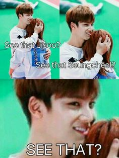 Oh he ded Seventeen Memes, Jeonghan Seventeen, Mingyu Wonwoo, Woozi, Astro Sanha, Day6 Sungjin, All About Kpop, Kpop Guys, Pledis 17