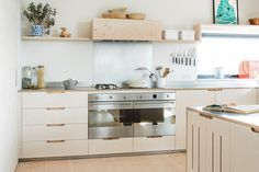 White and ply kitchen