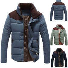 New Men's Winter Warm Thermal Wadded Jacket Cotton-padded Slim Style Winter Coat
