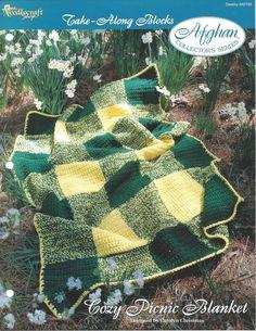 🍂 🍀 🍂 Aconchegante Manta de Piquenique Afegão Colecionador itens decorativos Criações -  / 🍂 🍀🍂 Cozy Picnic Blanket Afghan Collector Knacks Creations -