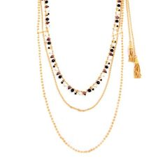 Beautiful long necklace from Gas Bijoux