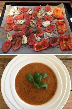 Heel gezond en heel lekker: Geroosterde paprika-tomatensoep!