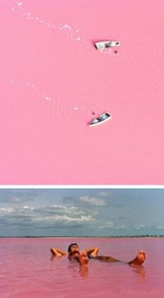 Segenal France - Lake Retba - bacteria in the water makes it pink