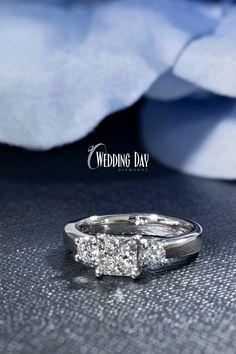 Three Stone Engagement Rings, Three Stone Rings, Diamond Engagement Rings, Wedding Day, Wedding Rings, Round Cut Diamond, Jewelry, Pi Day Wedding, Jewlery