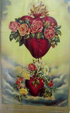 immaculate heart tattoo stencil - Google Search