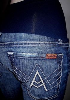 "c65cc11afc8c8 Details about NEW 7 FOR ALL MANKIND A Pea in the Pod ""A"" Pocket Maternity  Panel Jean 28 NWOT"