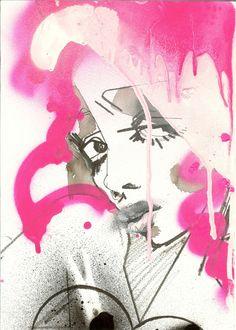 Julie Verhoeven, Sundae Girl, 2013 mixed media on paper, 30 x 21.5cm