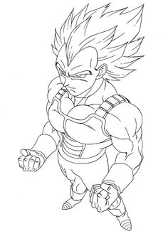 Free Vegeta Super Saiyan Coloring Pages Enjoy