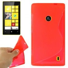 Capa Lumia 520 - Gel Sline Vermelho 4,99 €