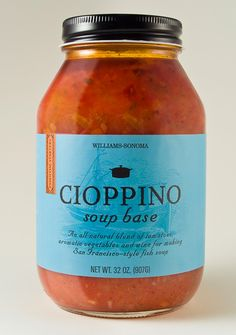 Williams-Sonoma Cioppino soup base packaging