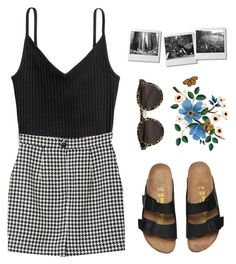 """I am the one for you //"" by lindsay-xo ❤ liked on Polyvore featuring H&M, Monki and Illesteva"