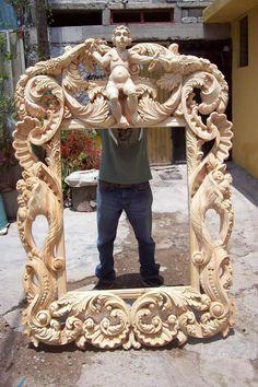 Marco Tallado A Mano (somos Fabricantes) - $ 7,000.00 en Mercado Libre