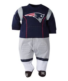 Love this New England Patriots Uniform Footie - Infant on #zulily! #zulilyfinds