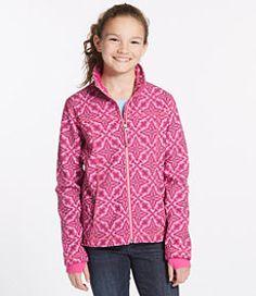 #LLBean: Girls' Wonderfleece Soft-Shell Jacket, Print