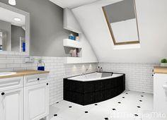 Białe płytki w łazience Double Vanity, Bathroom, Drawing Rooms, Washroom, Bathrooms, Bath, Bathing, Bath Tub