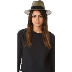 Rag Bone Panama Hat ($230) ❤ liked on Polyvore featuring accessories, hats, olive green hat, rag bone hat and panama hat
