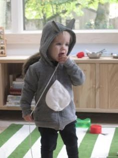 diy squirrel costume - I actually did this! And I am not very crafty!!