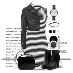 A fashion look from September 2015 featuring polo neck dress, cropped motorcycle jacket and black stiletto booties. Browse and shop related looks. Boohoo, Christian Dior, Givenchy, Glamour, Black And White, Shoe Bag, Polyvore Fashion, Stuff To Buy, Shopping