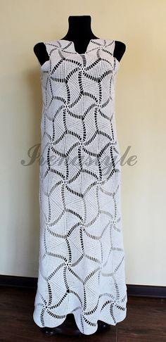 HECHO a pedido de Crochet vestido por encargo, hecho a mano, crochet - algodón