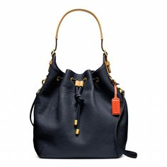 Coach :: SOFT LEGACY DRAWSTRING SHOULDER BAG IN PEBBLED LEATHER