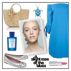 """BLUE DRESS!!!"" by kskafida ❤ liked on Polyvore featuring Erika Cavallini Semi-Couture, Buji Baja, Pretty Ballerinas, Acqua di Parma and Givenchy"