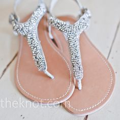 The Knot Your Personal Wedding Planner Dressy Flat Sandalsflat Sandalssparkly Sandalsbridal Sandalsbeach