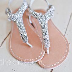 Rhinestone Beach Bridal Sandals I need these. I don't want to wear heels.