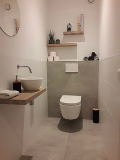 Dachboden Badezimmer Veenstra Familie - A Japanese Garden is Not Your Ordinary Garden Artic Small Downstairs Toilet, Small Toilet Room, Downstairs Bathroom, Guest Toilet, Wc Design, Toilet Design, Bathroom Design Small, Bathroom Interior Design, Toilet Room Decor