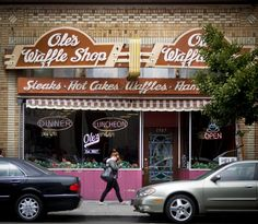 """Ole's Waffle Shop (1507 Park St, Alameda)  Here's what the Chronicle's Laura Compton wrote over a decade ago: """"Certain things have changed at Ole's Waffle Shop in Alameda since it opened in 1927, but not the waffles.  They're still made with the pancake recipe that original owner Ole Swanson developed, although the waffle irons aren't set up in the front window anymore. """" brunch !"""