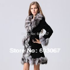 250 USD 2014 long design pigskin leather silver fox fur coat Real Leather Coat silver fox fur collar and trim jacket outwear garment New Barbie Gowns, Couture Embroidery, Fox Fur Coat, Fur Collars, Fur Trim, Real Leather, Rabbit Hide, Clothes For Women, Winter Wear